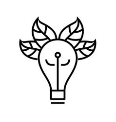 eco idea line icon concept sign outline vector image