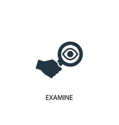 examine icon simple element examine vector image