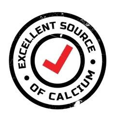 Excellent source of calcium stamp vector image