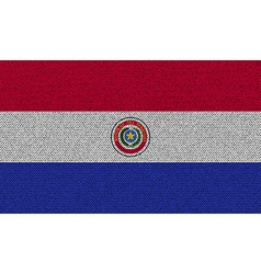 Flags Paraguay on denim texture vector