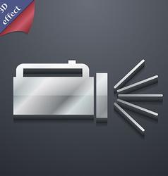 Flashlight icon symbol 3d style trendy modern vector
