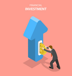 flat isometric concept financial vector image