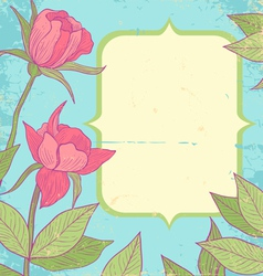 Flower vintage blue vector