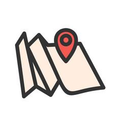 Folded map vector