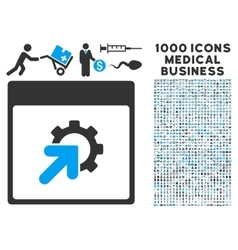 Gear Integration Calendar Page Icon With 1000 vector