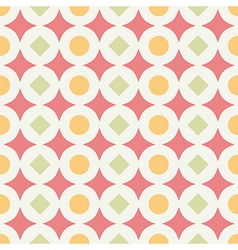 Geometric abstract retro seamless pattern on white vector