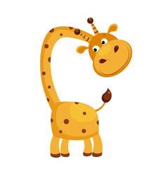Giraffe funny alphabet animal vector