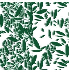 green foliage seamless pattern vector image