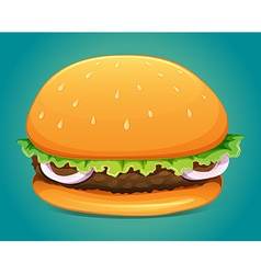 Hamburger with meat and veggie vector image