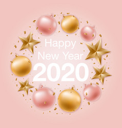 happy new year greeting background with shiny vector image