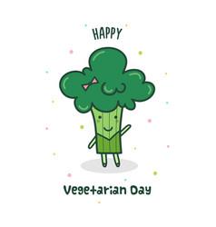 Happy vegetarian day vector