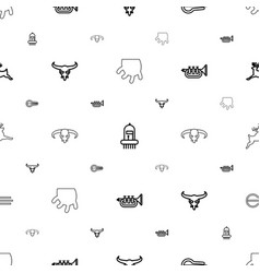 horn icons pattern seamless white background vector image
