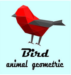 isolated bird geometric style vector image