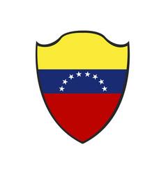 isolated venezuelan badge vector image
