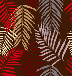 Leaf seamless pattern 3 vector