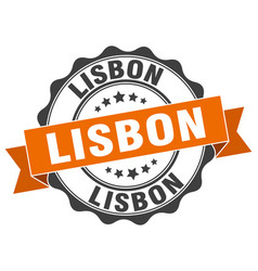 Lisbon round ribbon seal vector