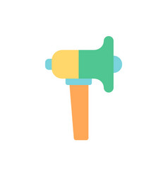 loudspeaker flat color icon vector image