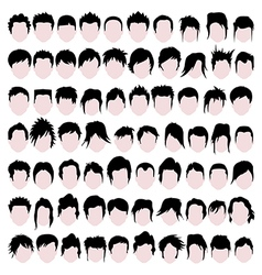 Male hair styles vector