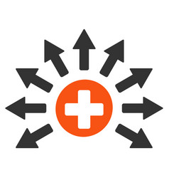 Medical distribution flat icon vector