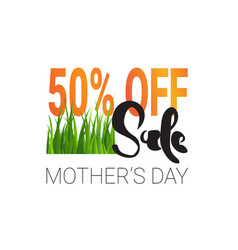 mothers day sale element creative holiday shopping vector image