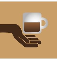 Mug coffee cookie round bakery icon design graphic vector