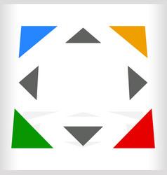 Multicolor geometric icon logo for generic of vector