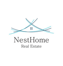 nest home logo vector image