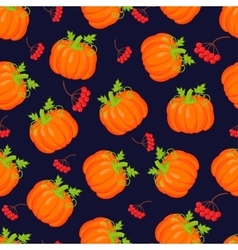 Orange pumpkins seamless pattern vector