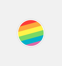 rainbow circle logo vector image