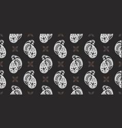 rectangular seamless boho print design for vector image