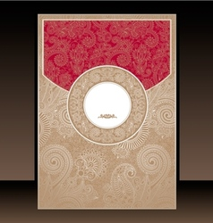 Red and Gold Paisley Envelope vector image