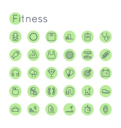 Round Fitness Icons vector