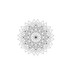 sacred geometry seed life logo icon geometric vector image