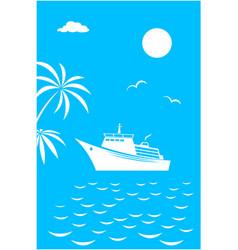 sea voyage vacation travel card banner vector image