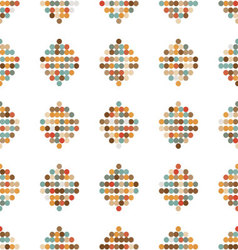 Seamless ornament retro circles vector