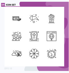 Set 9 commercial outlines pack for dreadful vector