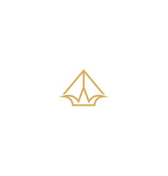 shape line geometry crown logo vector image