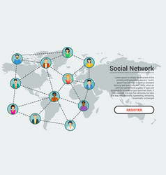 Social network - banner template vector