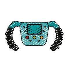 steering wheel racer doodle vector image