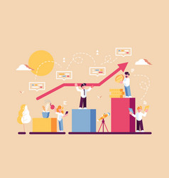 strategy of long term planning vector image