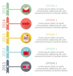 Time Line Infographic vector image