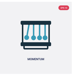 two color momentum icon from science concept vector image