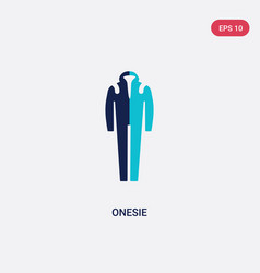 Two color onesie icon from fashion concept vector