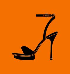 Woman high heel sandal icon vector