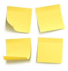 yellow blank sticky notes vector image