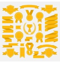Yellow ribbons set I vector image
