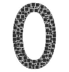 Zero digit collage of squares and circles vector