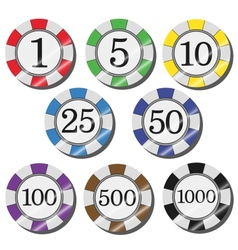 casino chips vector image