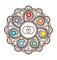 Mandala for wedding invitations and greeting cards vector image