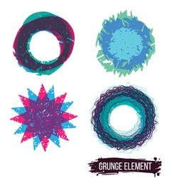 Set color grunge design element vector image